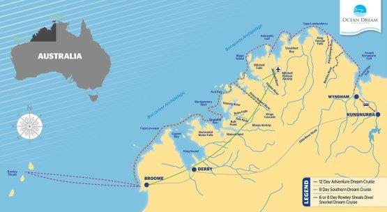 Ocean Dream Itinerary Maps OCT25